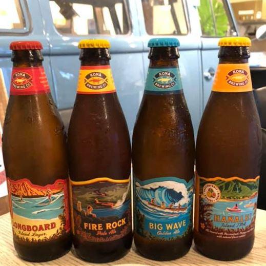 4種類のコナビールのボトル